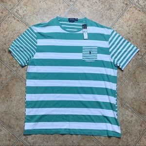 Polo Ralph Lauren Striped Pocketed Tee Size XL